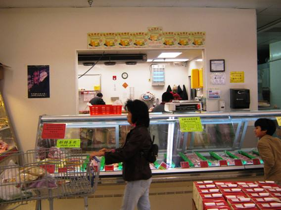 Meat section at Grand Asia Market in Raleigh- NC Triangle Dining
