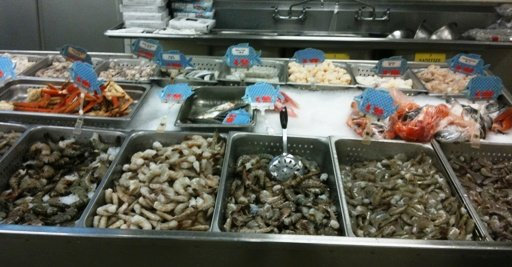 Seafood section at Grand Asia Market in Raleigh- NC Triangle Dining
