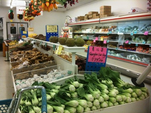 Produce section at Grand Asia Market in Raleigh- NC Triangle Dining