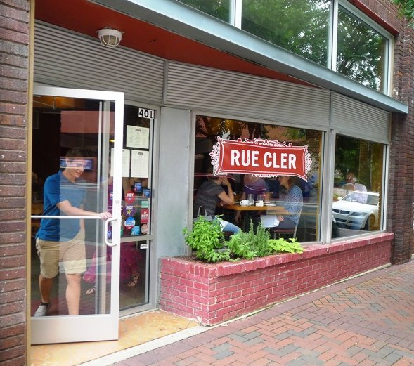 Front of Rue Cler in Durham - NC Triangle Dining