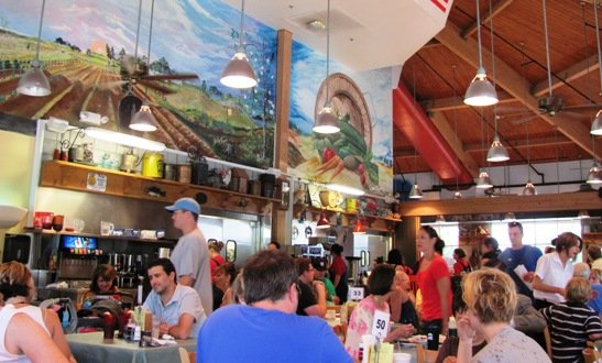 Diners at NC State Farmers Market Restaurant in Raleigh, NC Triangle Dining