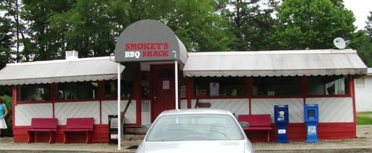 Front of Smokey's BBQ Shack, Morrisville- NC Triangle Dining