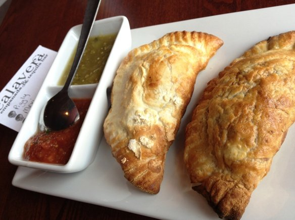 Empanada plate at Calavera in Raleigh, NC Triangle Dining