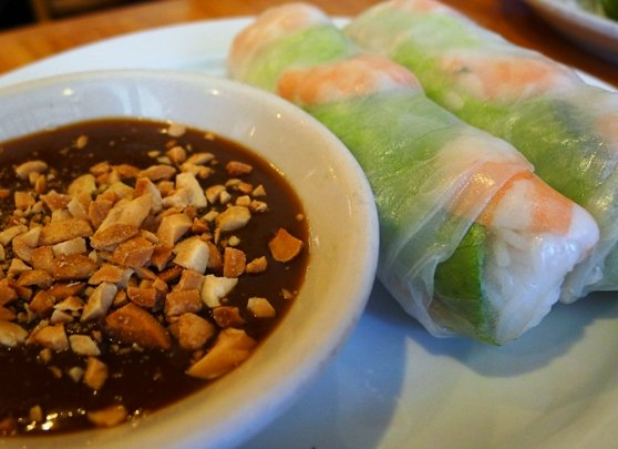 Summer rolls at Pho Far East, Raleigh on NC Triangle Dining