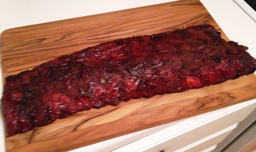 Rack of ribs at Big Al's, NC Triangle Dining