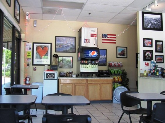 Inside at Anvil's Cheesesteaks in Cary, NC Triangle Dining