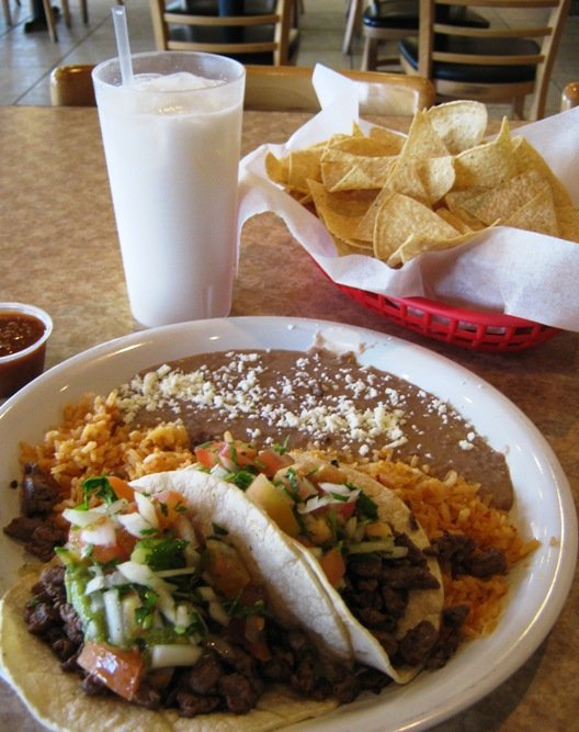 Taco meal at Los Cuates in Raleigh, NC Triangle Dining