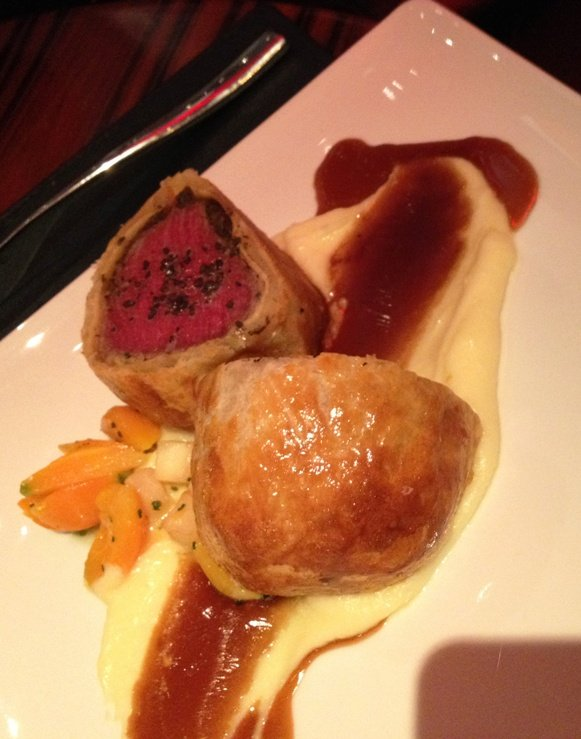 Beef wellington at Gordon Ramsay's Steak in Las Vegas, NC Triangle Dining