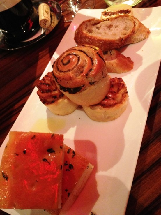 Bread plate at Gordon Ramsay's Steak in Las Vegas, NC Triangle Dining