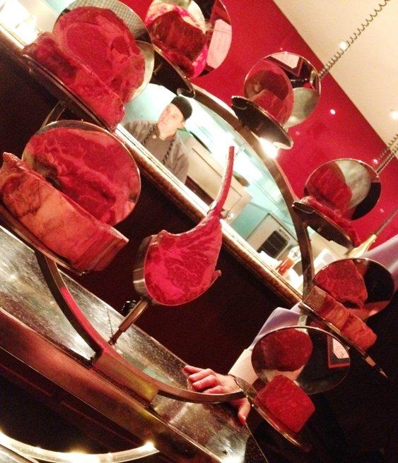 Steak cart at Gordon Ramsay's Steak in Las Vegas, NC Triangle Dining