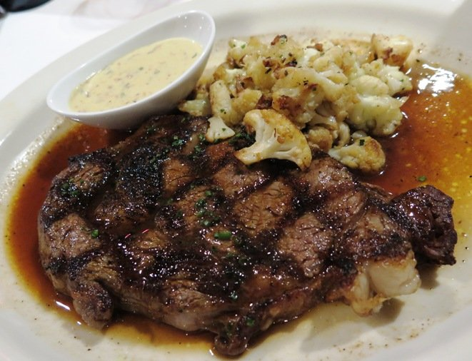 Ribeye and truffled cauliflower at Nana Steak in Durham- NC Triangle Dining
