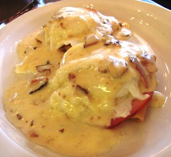 Crepes benedict at Simply Crepes in Raleigh, NC Triangle Dining