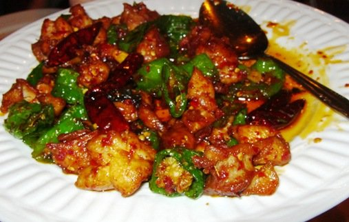 Tri-pepper chicken at Super Wok in Cary, NC Triangle Dining