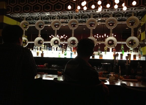 Mirror bar at Clockwork, Raleigh- NC Triangle Dining