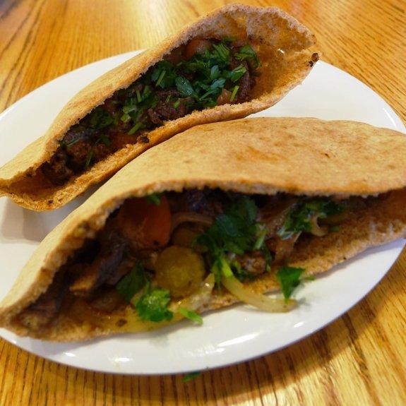 Beef-lamb shwarma at Neomonde, Raleigh- NC Triangle Dining