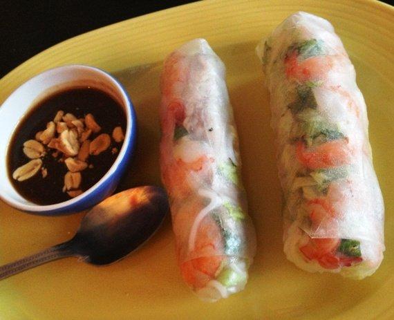 Summer rolls at Taste Vietnamese, Morrisville- NC Triangle Dining