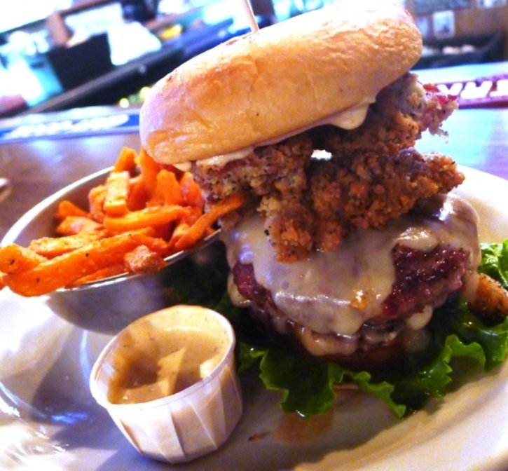 Bad Ass burger at Bad Daddy's Burger Bar in Raleigh, NC Triangle Dining