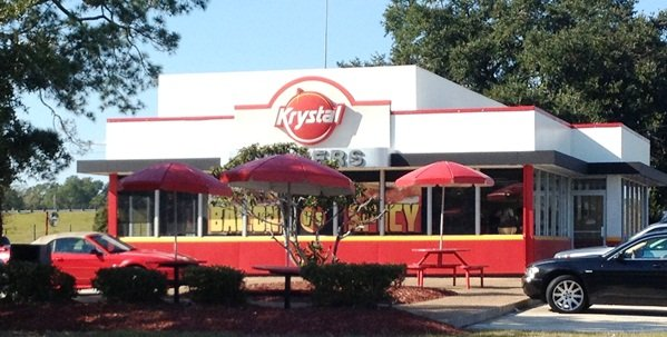 Front of Krystal in Brunswick, GA- NC Triangle Dining