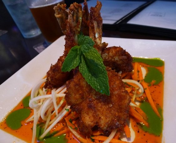 Coconut shrimp app at Yard House, Raleigh- NC Triangle Dining