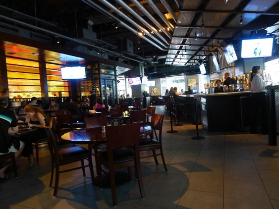 Dining area at Yard House, Raleigh- NC Triangle Dining