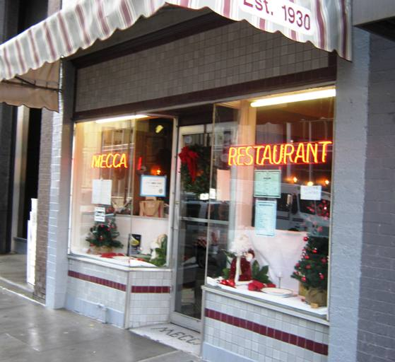 Front of the Mecca, Raleigh- NC Triangle Dining
