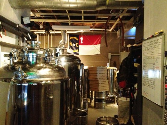 Brewing equipment at Trophy Brewing, Raleigh- NC Triangle Dining