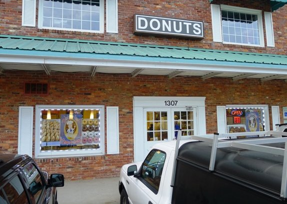 Front of Baker's Dozen Donuts, Raleigh- NC Triangle Dining