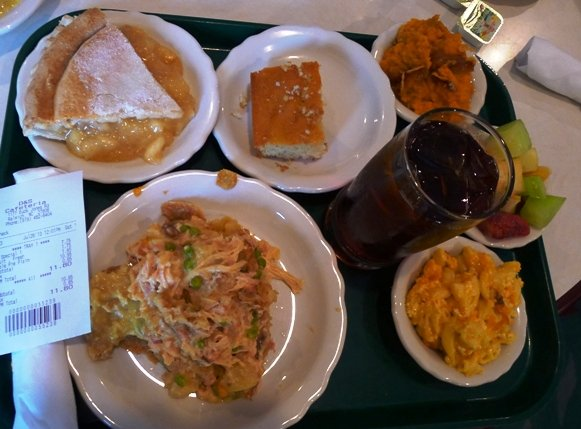 Lunch tray at D&S Cafeteria in Raleigh- NC Triangle Dining