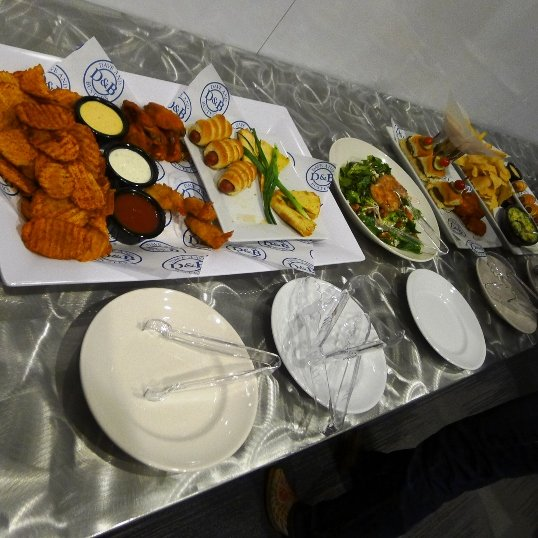 Food display at Dave and Busters, Cary- NC Triangle Dining