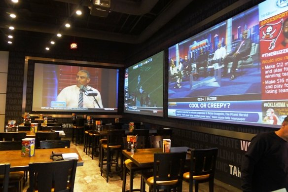 Sports bar area at Dave and Busters, Cary- NC Triangle Dining