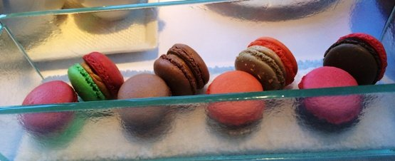 Colorful macaroons at Herons in Cary, NC Triangle Dining