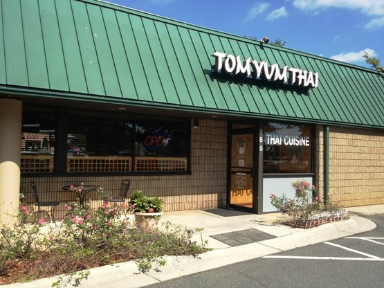 Front of Tom Yum Thai, Cary- NC Triangle Dining