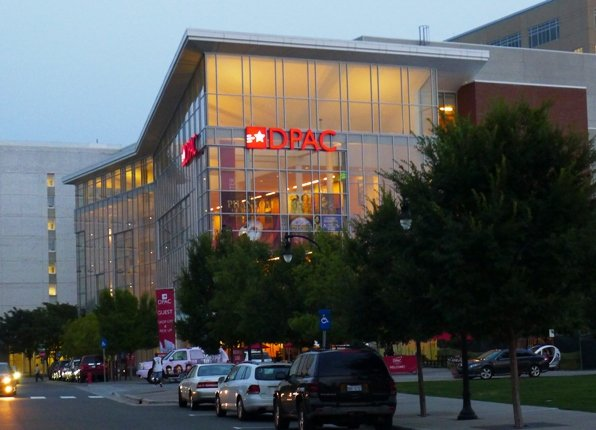 The DPAC in Durham at night - NC Triangle Dining