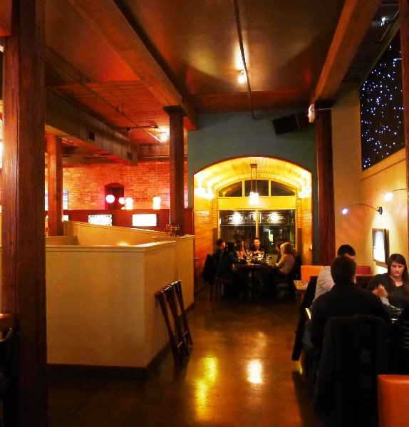 Cool interior at Little Dipper, Durham- NC Triangle Dining