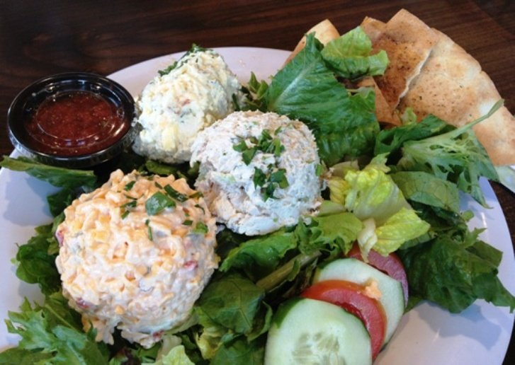 Chicken salad plate at Taziki's, Cary- NC Triangle Dining
