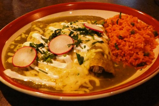 Enchilada suiza at Jose and Sons, Raleigh- NC Triangle Dining