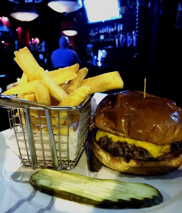 $5 Burger Monday at the Hibernian Pub