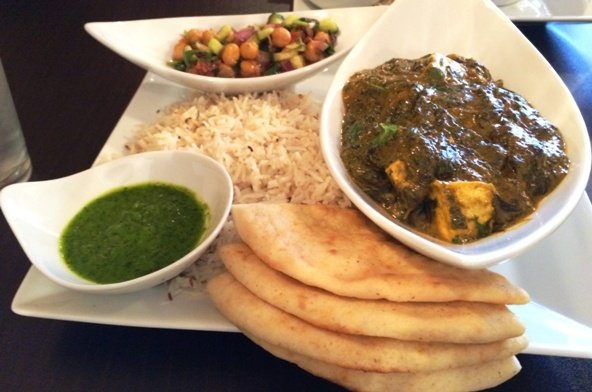Saag paneer at Cilantro Indian in Cary, NC Triangle Dining