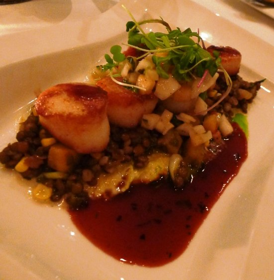 Scallops with pineapple salsa at the Tavern at Second Empire, Raleigh- NC Triangle Dining