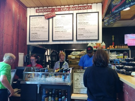 Crowded order counter at City Barbeque, Cary- NC Triangle Dining