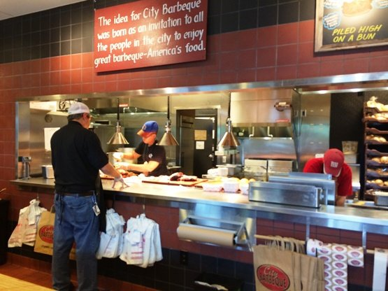 Service counter at City Barbeque, Cary- NC Triangle Dining
