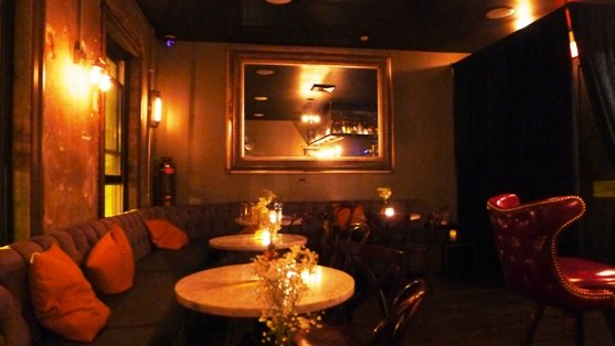 Speak-easy interior at the Greenlight Bar, Raleigh- NC Triangle Dining