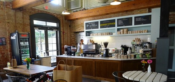 Coffee bar at Videri Chocolate Factory, Raleigh- NC Triangle Dining