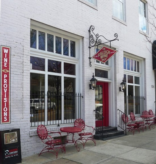 Front of Raleigh Wine Shop, NC Triangle Dining