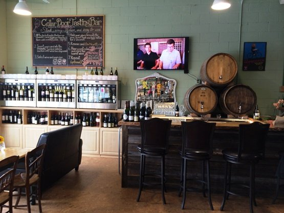 Tastign area at Wine Authorities, NC Triangle Dining