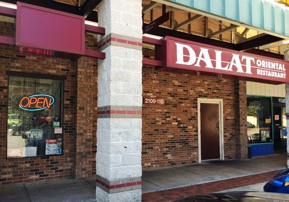 Front of Dalat in Raleigh, NC Triangle Dining