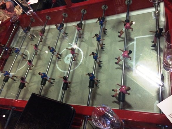 Foosball dining table at Jaleo in Washington, DC- NC Triangle Dining