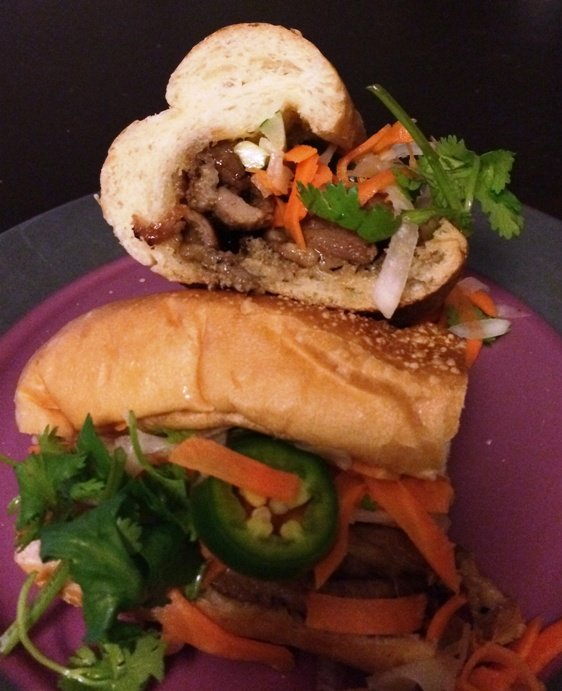 Cut banh mi from Pho Far East in Raleigh, NC Triangle Dining