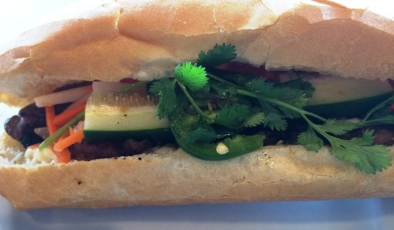 Pork banh mi from Pho Vietnam in Raleigh, NC Triangle Dining