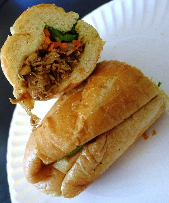 Chicken banh mi from Taste Vietnamese in Morrisville, NC Triangle Dining